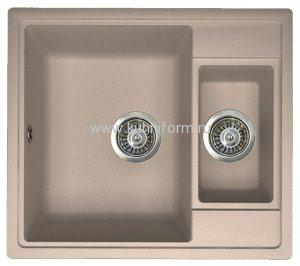 Кухонная мойка из искусственного камня Florentina ЛИПСИ-580К Внешние размеры мойки: 58x51 см